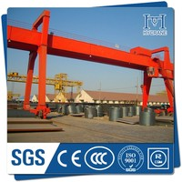 manual lifting and traveling gantry crane with drawing