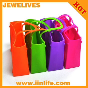 Lady's Fashion Waterproof Rubber Silicone Beach Bag