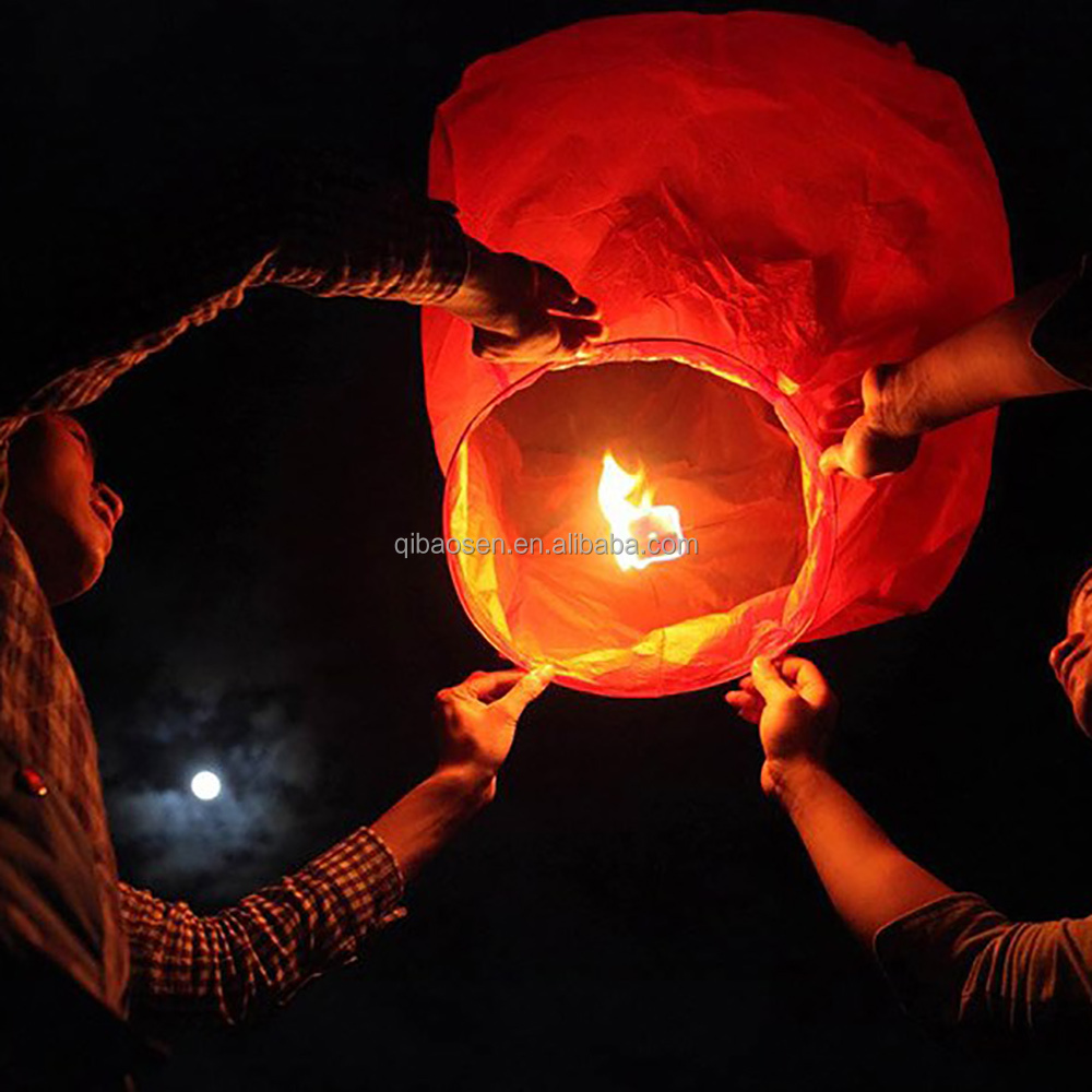 wholesale hot air fire balloon paper lantern/ chinese flying sky lantern