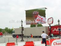 P12 full color video mobile truck led display screen for sports events