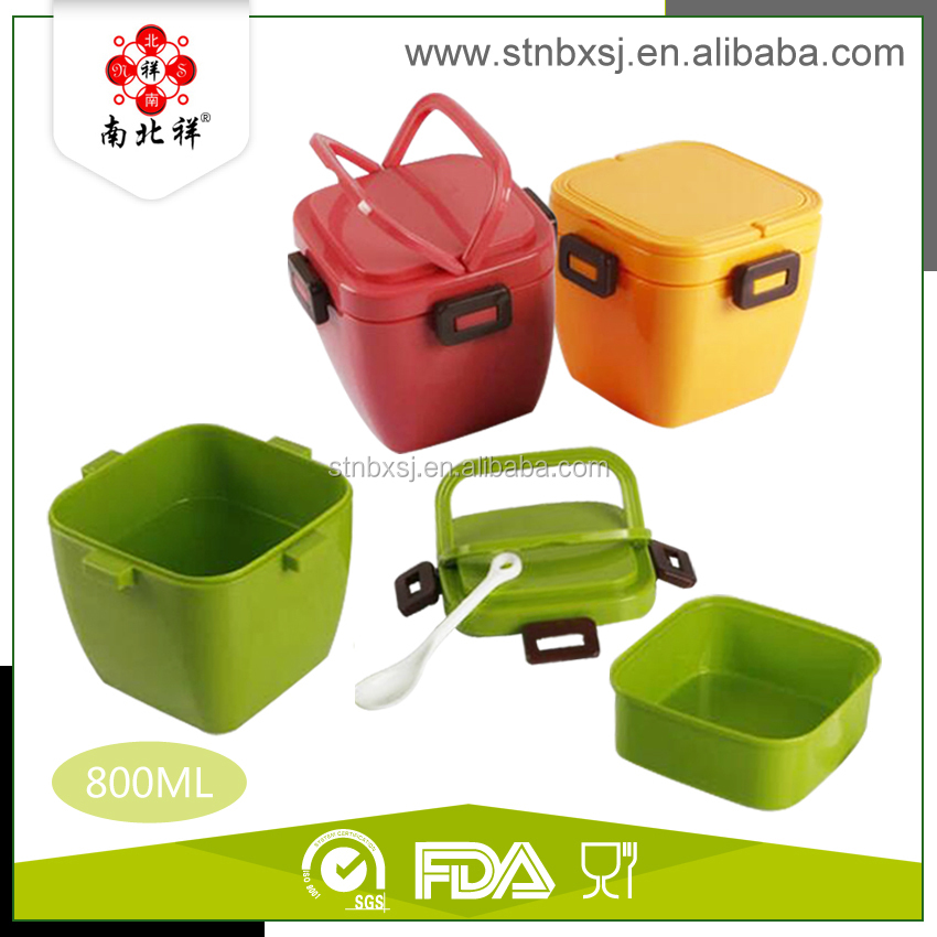 New Design Kids Plastic Lunch Box With Handle For Picnic