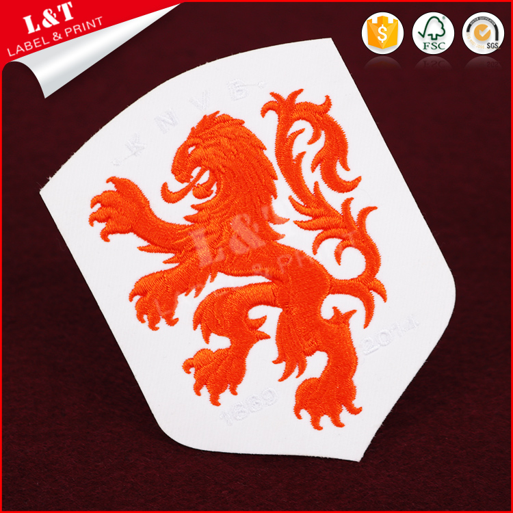 Custom High Density Sew In Lion Fun Embroidery Patches Label