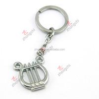 Harp Metal Keychain, Music Theme Keychain for Concert Gift
