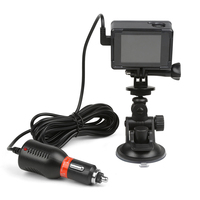 2 in 1 Car Charger Mini Suction Cup Camera Holder For SJ Series Action Camera SJ6000 SJCAM SJ4000 M10 Mount Accessories
