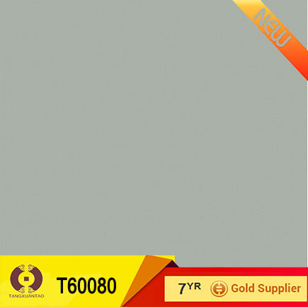 Foshan light gray vitrified tiles colour full body tile (T60080)