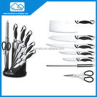 Fashion design safe line kitchen beautiful knife set