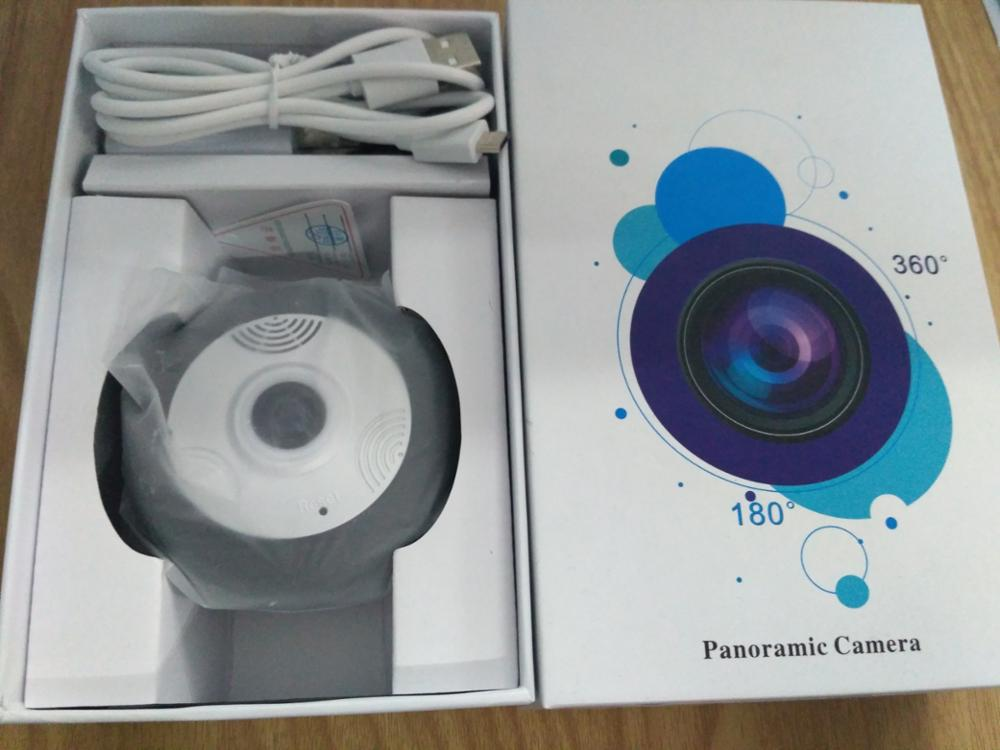 Monitoring Range 100 square meters 360 degree fisheye panoramic ip camera