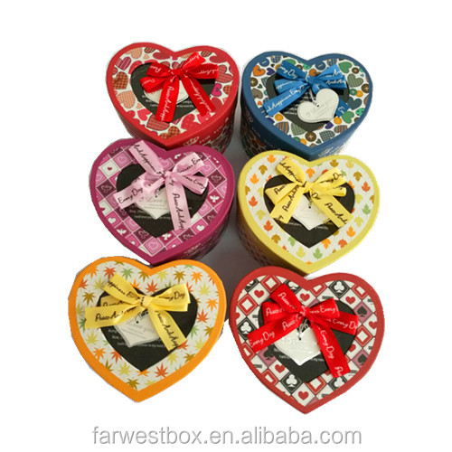 Small heart shape gift box candy box paper box good price small quantity accept