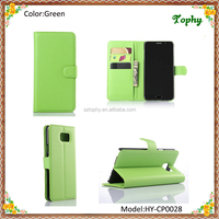 Wholesale Green PU Leather + PC Litchi Pattern Wallet Card Stand Cover Holster Phone Sets Flip Case For Samsung Galaxy Note 5