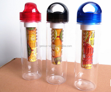Bpa Free Food grade plastic 32oz fruit infuser water bottle