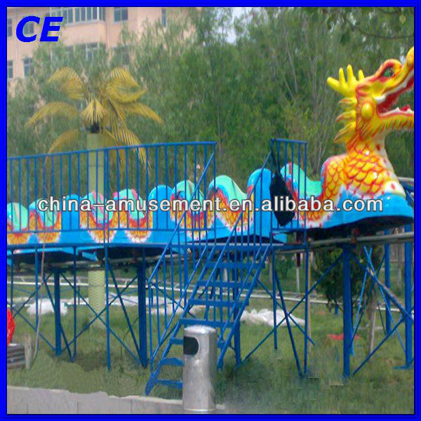 Attractive amusement park equipment kids small roller coaster slide dragon for sale