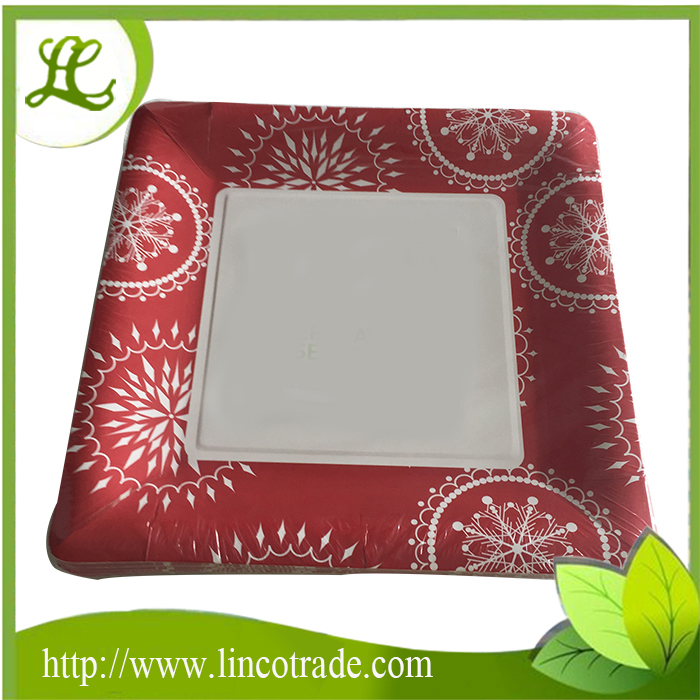7.5 Inch Square Disposable Paper Plate