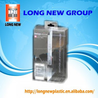 E Customized clear plastic pet blister packaging case