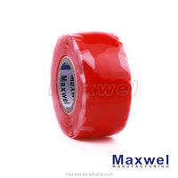 Self fusing silicone rubber electrical tape with a high-temperature applicated in any where