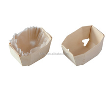 Hot selling Disposable Food Container wood Box, small cake/bread baking box with greese paper