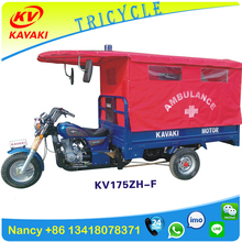 Hospital Ambulance Tricycle /Cheap Simple Medical Tricycle /Three Wheels Special Use Ambulance Motorcycle