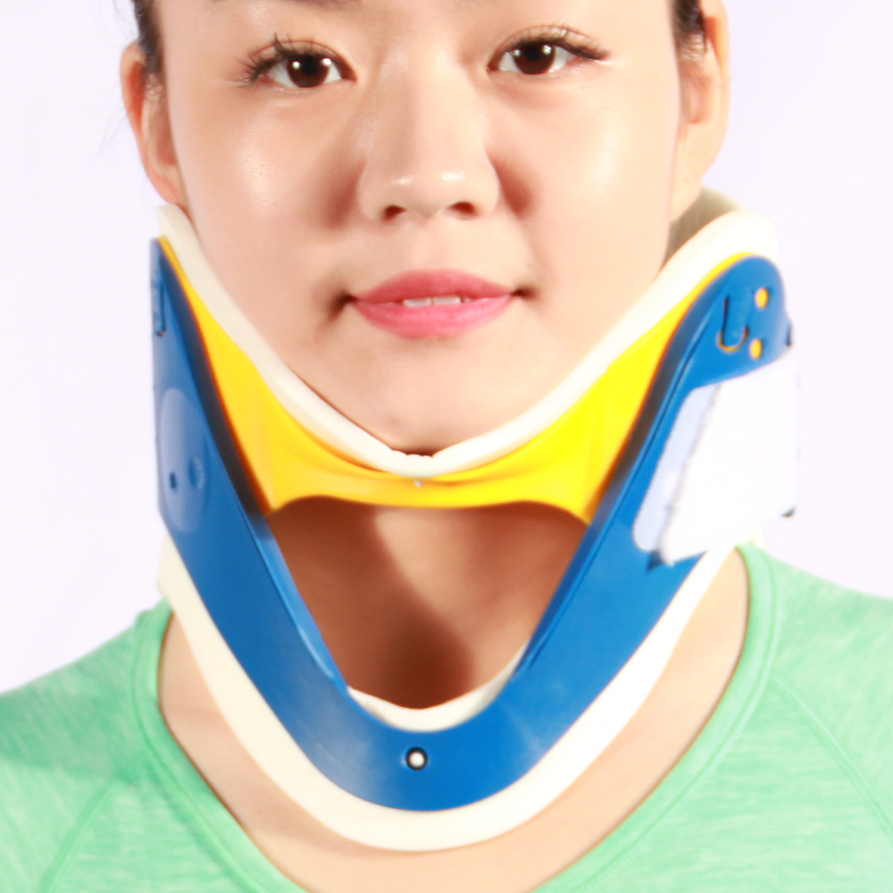 First-aids plastic adjustable cervical collar medical neck immobilizer support neck brace device for spine traction