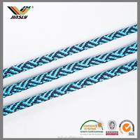 High quality 3mm garment colorful polyester stripe silk hemp 4mm braided rope