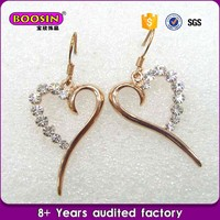 Factory price Accessories women gold rhodium plated earrings