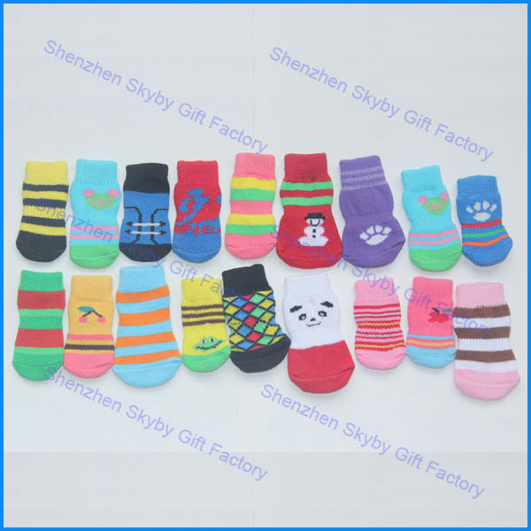 Hot Sales Pet Shoes Warm Nonskid Cottom Socks For Dogs