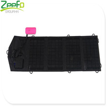 Portable 7W 5V Foldable Solar Battery Charger Durable USB Output Solar Panel Charger for Travel,Camping,Hiking