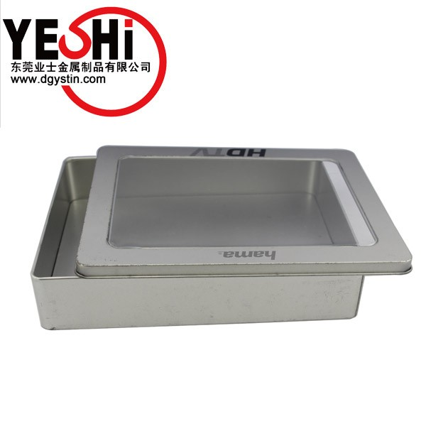 Metal Material and CD /VCD /DVD Industrial Use square tin box with window