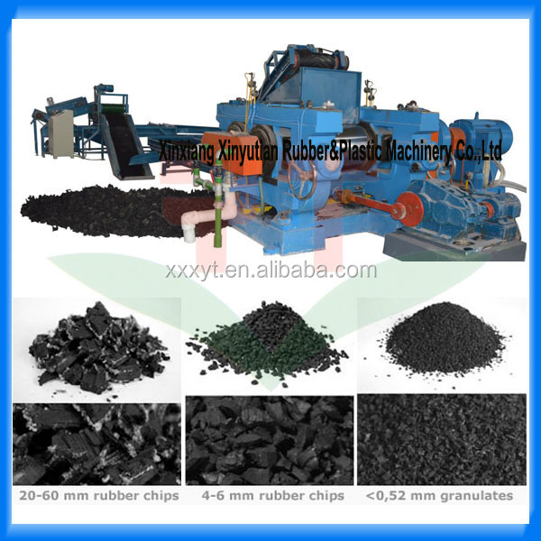 TBR recycled rubber granules from waste tyre recycling plant