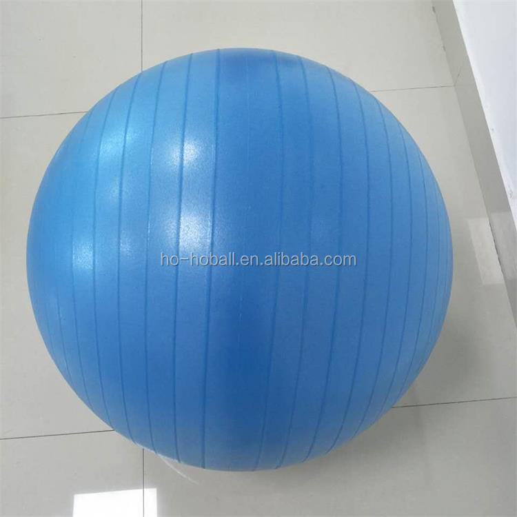 Blue 55CM anti-burst gym ball for exercise