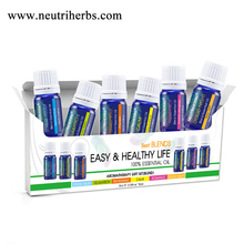 Easy And Healthy Aromatherapy Gift Set 6 pieces Blend Essential Oil Aromatherapy Oil