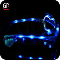 Most Popular Wholesale Pumpkin Shaped Flashing Led Cool Party Sunglasses