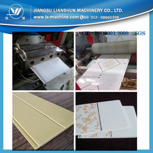Decorative PVC Film Covering Partical Board Ceiling Panel Extrusion Line / Plastic PVC Profile Making Machine