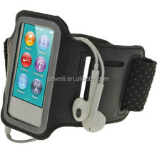 Sports Running Arm Band Pouch Case for Apple iPod Nano 7 & Key Storage Black