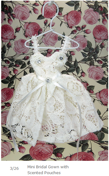 Mini Bridal Gown with Scented Pouches