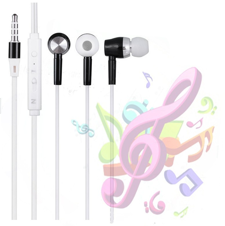 In-Ear colour Stereo Headset Earbuds mobile Earphone for all mobile phones with speaker
