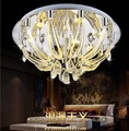 round decorative crystal ceiling lamp