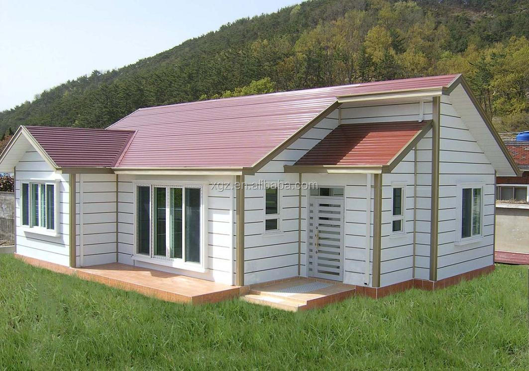 China low cost steel structure house prefabricated homes for Steel prefab house