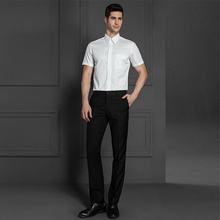 Business office dress men short sleeve shirts