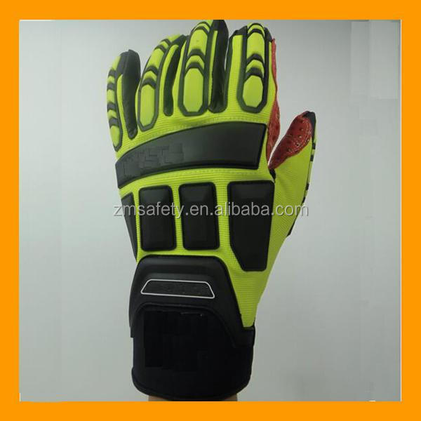 Impact Resistant Oil and Gas Safety Work Impact Gloves Heavy Duty Gloves