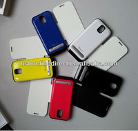 New CE FCC patent ABS+PC 6colors 3200mah Power bank battery case for SAMSUNG Galaxy S4 I9500