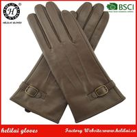 Best Sell Ladies Thinsulate Lined Outdoor Work Genuine Leather Gloves