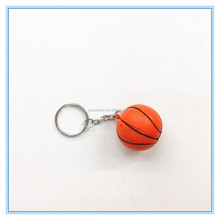 soft foam 4cm mini pu basketball ball keychain
