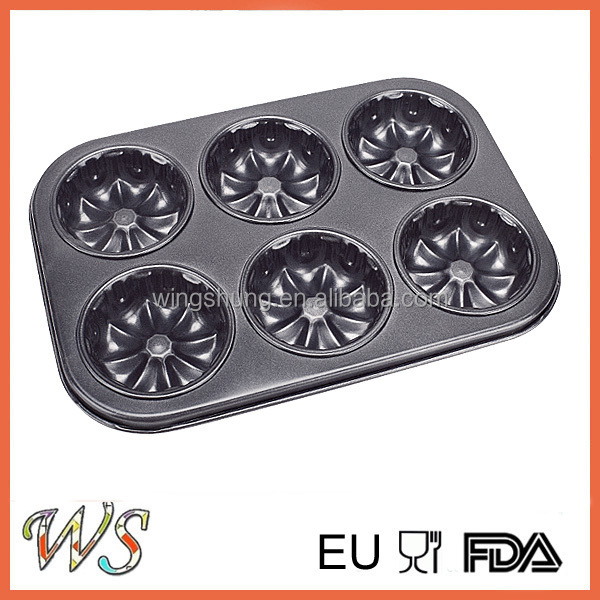 6 Cups Non-stick Mould for Cake in Steel