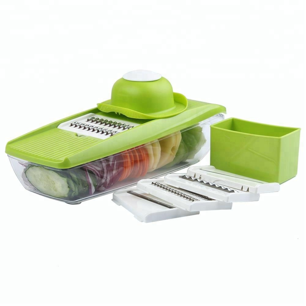 Plastic Manual Grater Box Grater Mandolin Grater With 5 Blades