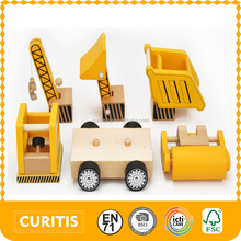 2016 New Product Wooden Car Toy With 4 Kinds Of Functions Most Popular Teawood Car Toy For Kids