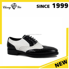 white and black classical design high quality formal men leather dress shoes