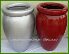 outdoor garden decorative fiber glass pots