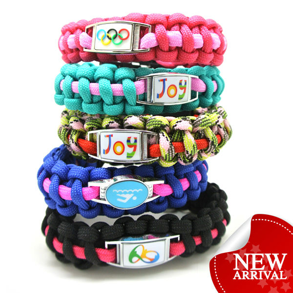 WHOLESALE NEW woven friendship bracelets with metal charms