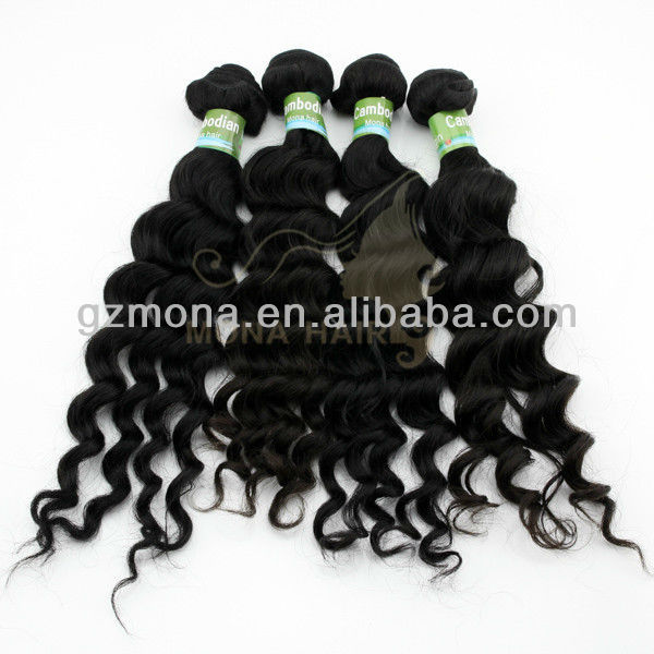 100% real cambodian human hair body wave and loose wave textures virgin cambodian hair
