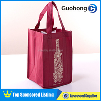 Custom Promotional 6 Pack Wine Bottle Bag | Non Woven Wine Bag