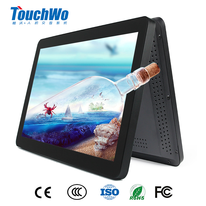 "OEM 18.5"" lcd touch screen monitor kiosk computer display with USB intel i3 4g 64g"
